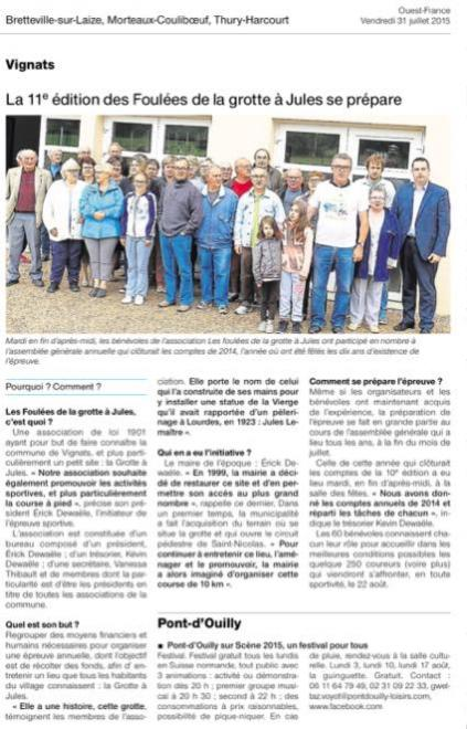 Ag foulees ouest france